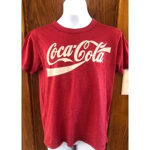 Red Short Sleeve Coca-Cola Logo Graphic Tee Sz 10